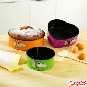 Set de 3 forme detasabile pentru prajituri