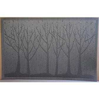 Set 4 suporturi farfurii Copaci gri