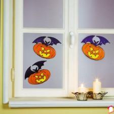 Set de 2 abtibilduri electrostatice Halloween