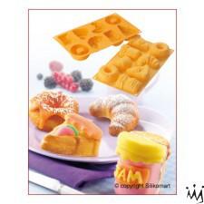 Forma de silicon pentru 8 prajituri - Mic dejun