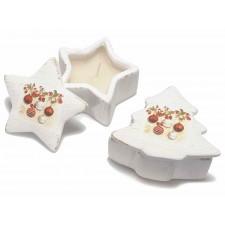 Suport alb ceramic lumanare